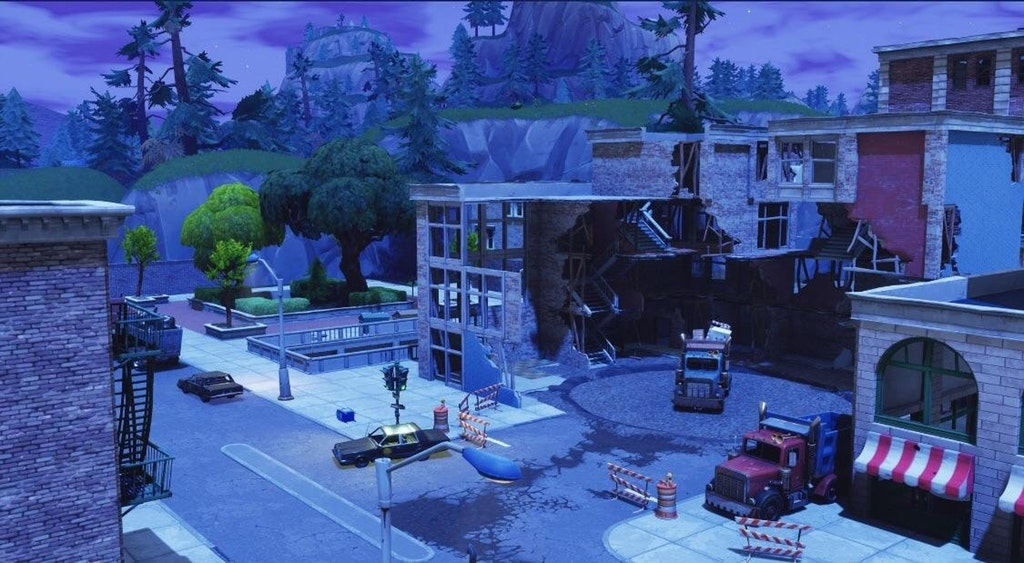 tilted towers being repaired