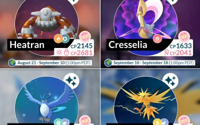 Cresselia, Zapdos, and Arcticuno arriving in raids this month!!